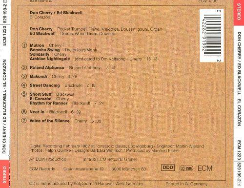 """7 album phải nghe trước khi chết, a1 Nirvana – """"In Utero"""",a2 Don Cherry & Ed Blackwell – """"El Corazon"""""""